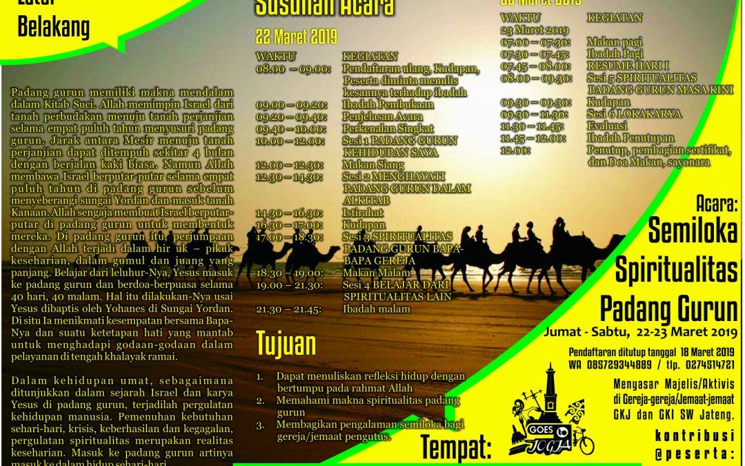 Semiloka Spiritualitas Padang Gurun