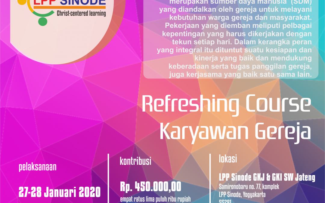Refreshing Course Karyawan Gereja