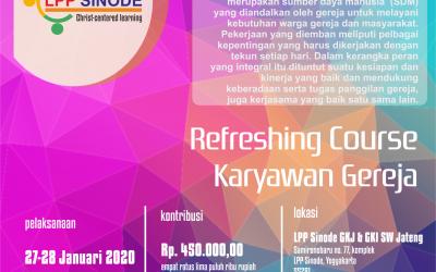 Refreshing Course Karyawan Gereja