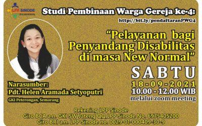 """""""Pelayanan  bagi Penyandang Disabilitas di Masa New Normal"""" – PWG ke-4"""